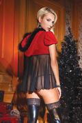 Plus Size Santa Babydoll & G-String Set