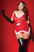 Sexy Santa Bustier & G-String