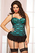 Victorian Lace Plus Size Bustier Set