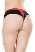 """Crotchless Velvet & Knit """"Present"""" Plus Size Panty"""