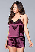 Jasmina Satin Cami & Short Set