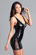Elisa Wet Look Dress