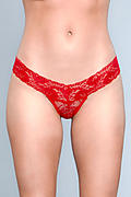 V-Cut Lace Row Rise Panties