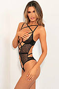 Exquisite Restrictions Open Cup Lace Teddy
