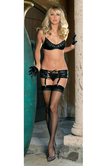 Corseted Underwire Bra & Panty Set