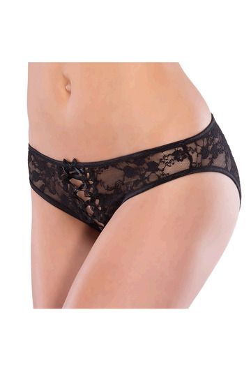 Front Lace Back Crotchless Panty