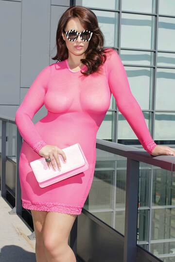Plus Size Tickled Pink Dress