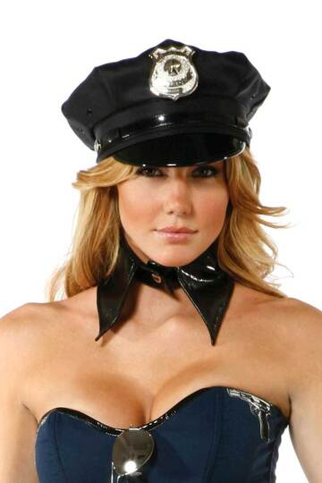 Police Hat with Badge