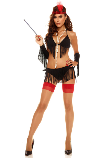 Fanciful Fringe Sexy Flapper Costume