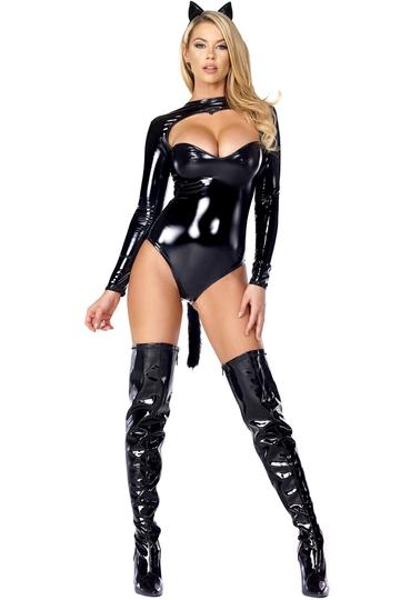 Feline Fetish Black Cat Sexy Costume