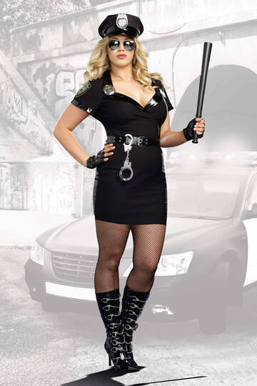 Dirty Cop Officer Anita Bribe Plus Size Costume