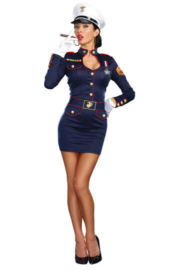 Take Charge Marge Navy Women's Costume