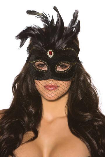 Velvet Feather Mask