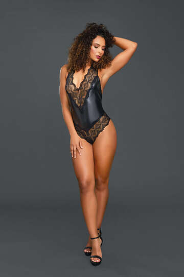Extreme Lace Leather Teddy