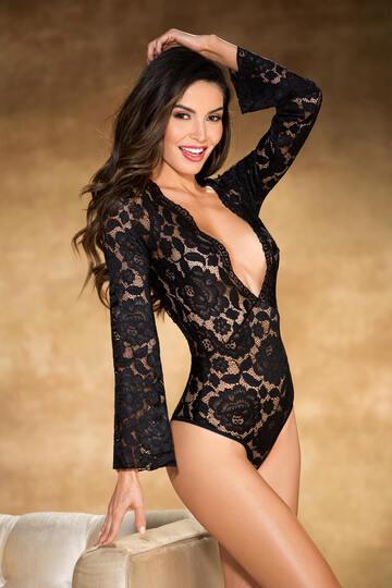 Gorgeous Stretch Lace Bodysuit Teddy