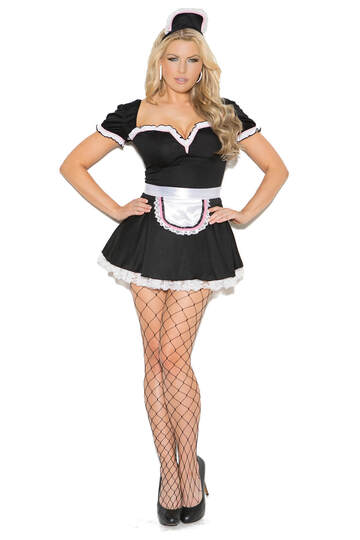 Plus Size Maid To Please Costume