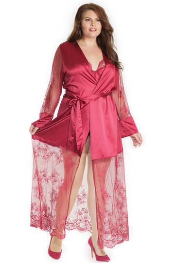 Merlot Plus Size Robe