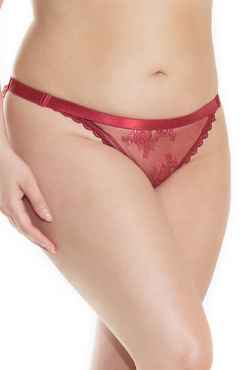 Merlot Ruched Full Back Plus Size Panty