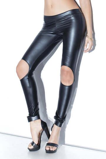 Wet Look Pants