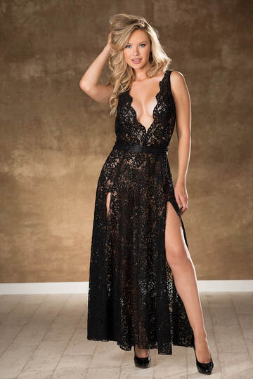 Exquisite Sequin Lace Gown