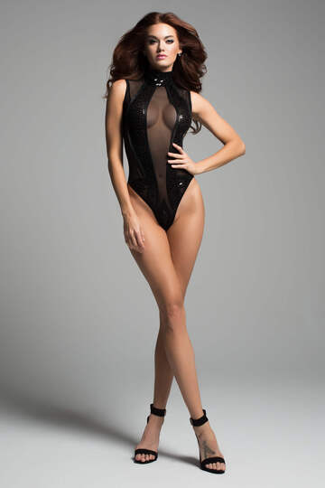 Enchanted Sleeveless High Neck Bodysuit
