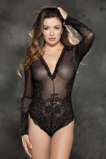 Sheer Desires Stretch Lace Teddy