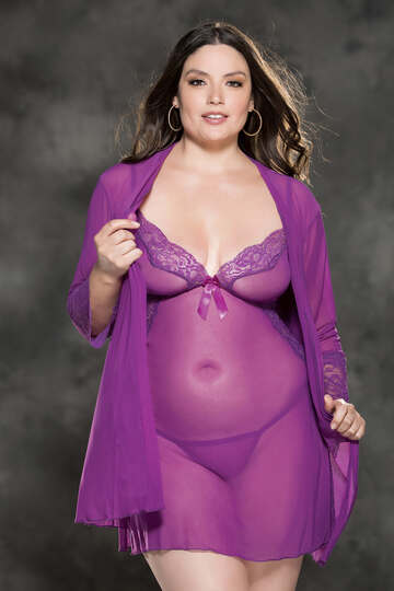 Lillian Plus Size Stretch Mesh Set
