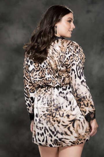 Plus Size Animalistic Desires Robe
