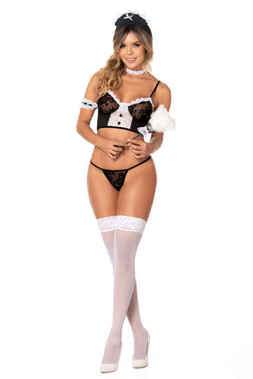 Flirty French Maid Lingerie Costume