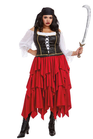 Plus Size Holy Ship Women's Pirate Costume