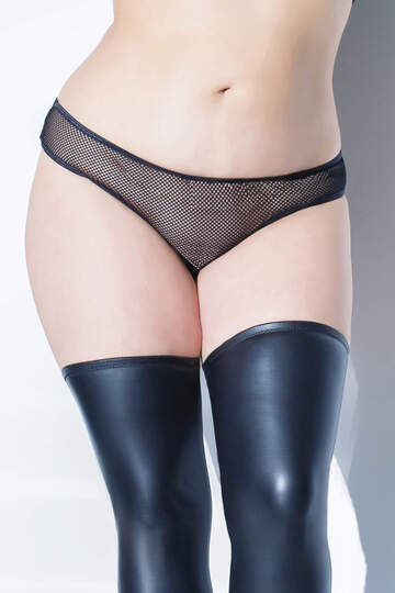 Fishnet Crotchless Plus Size Panty