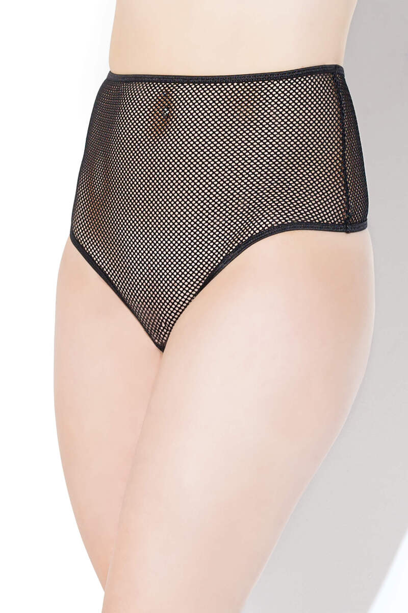 High Waist Fishnet Panty