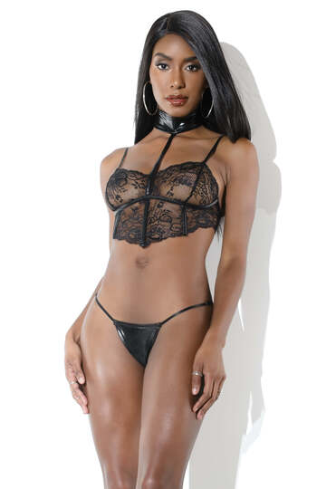 Domination Bra Top & G-String Set
