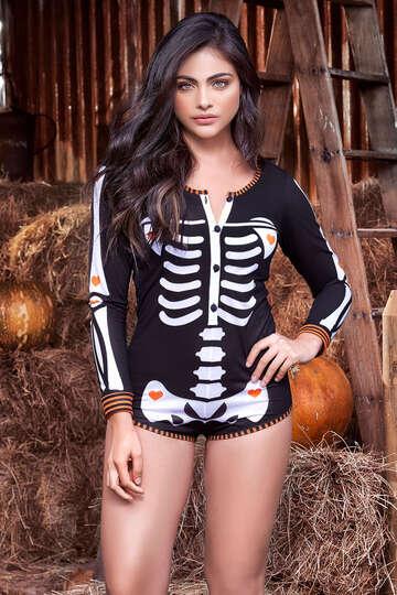 Sexy Skeleton Romper