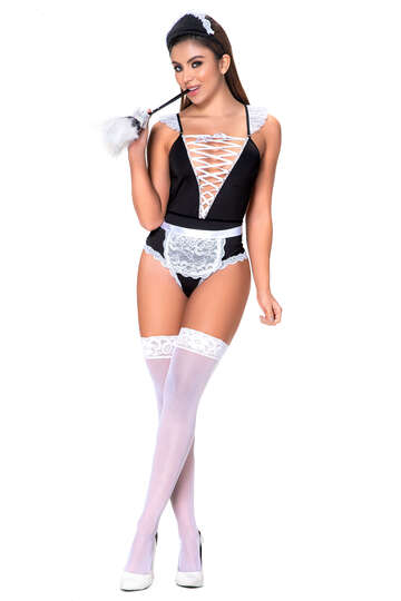 Frilly French Maid Lingerie Costume