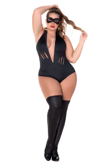 Plus Size Bad Kitty Lingerie Costume