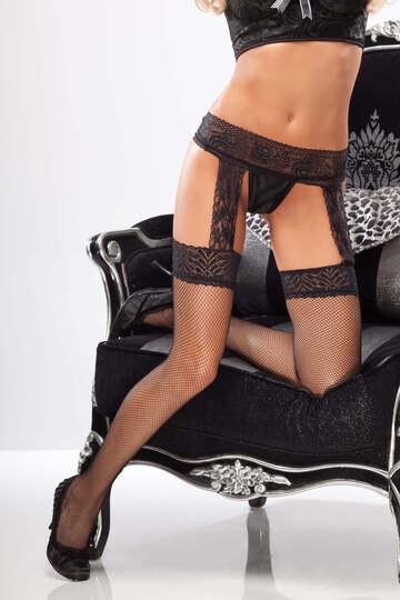 Lavish Lace Fishnet Stockings