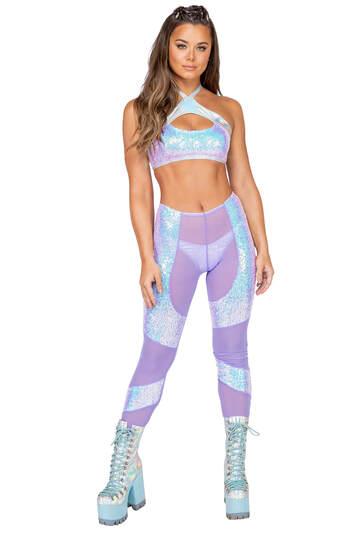 Low Rise Sequin Pants