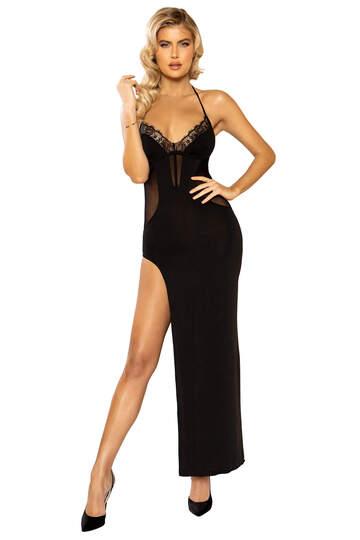 Sheer Enticement Maxi Length Dress